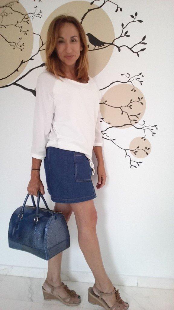 Falda y bolso silicona