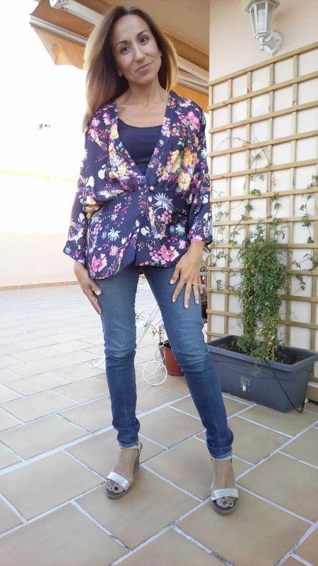 Kimono con jeans