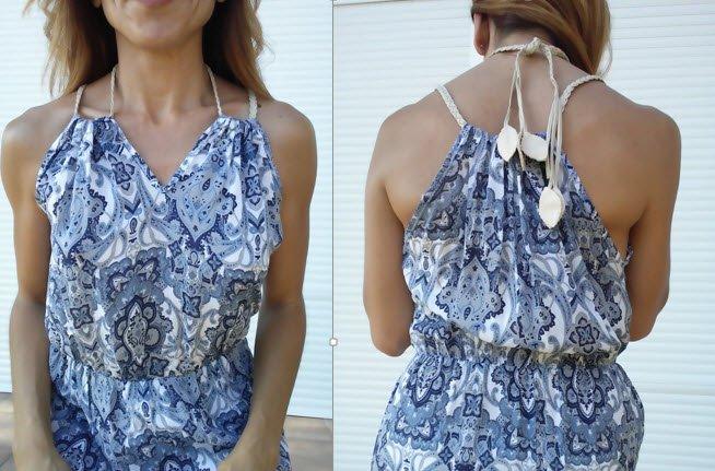 vestido largo tirante doble