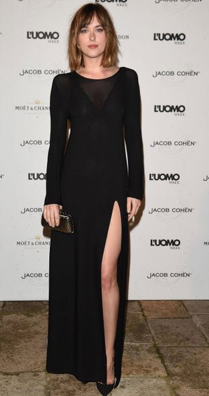 Dakota Johnson vestido negro