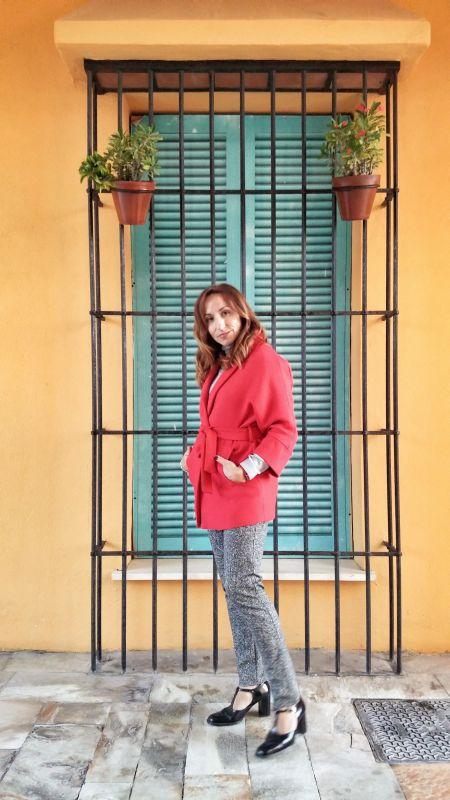 Red coat PalomaTrends