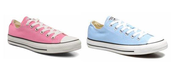 Converse Azul y rosa